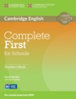 Complete First for Schools Teacher's Book - Book