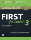 Cambridge English First for Schools 3 Student's Book with Answers with Audio - Book