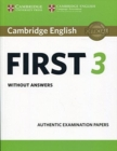 Cambridge English First 3 Student's Book without Answers - Book