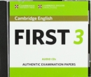 Cambridge English First 3 Audio CDs - Book