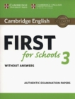 Cambridge English First for Schools 3 Student's Book without Answers - Book