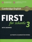 Cambridge English First for Schools 3 Student's Book with Answers - Book
