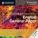 Cambridge International AS Level English General Paper Cambridge Elevate Teacher's Resource Access Card - Book
