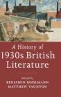 A History of 1930s British Literature - Book