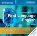 Cambridge International IGCSE : Cambridge IGCSE (TM)  First Language English Cambridge Elevate Digital Classroom Access Card (1 Year) - Book
