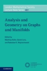 Analysis and Geometry on Graphs and Manifolds - Book