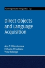 Direct Objects and Language Acquisition - Book
