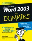 Word 2003 For Dummies - eBook