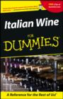 Italian Wine For Dummies - eBook