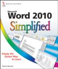 Word 2010 Simplified - eBook