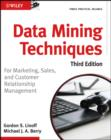 Data Mining Techniques : For Marketing, Sales, and Customer Relationship Management - eBook