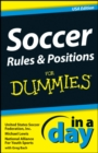 Soccer Rules and Positions In A Day For Dummies - eBook