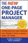 The New One-Page Project Manager : Communicate and Manage Any Project With A Single Sheet of Paper - Book