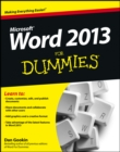 Word 2013 For Dummies - eBook