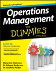 Operations Management For Dummies - Book
