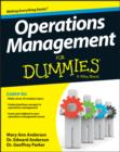 Operations Management For Dummies - eBook