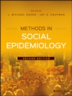 Methods in Social Epidemiology - eBook