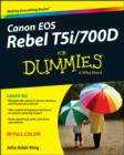 Canon EOS Rebel T5i/700D For Dummies - Book