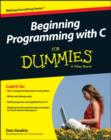 Beginning Programming with C For Dummies - Book