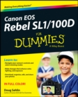 Canon EOS Rebel SL1/100D For Dummies - eBook