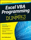 Excel VBA Programming For Dummies - Book