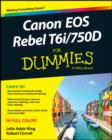 Canon EOS Rebel T6i / 750D For Dummies - eBook