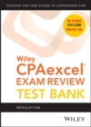 Wiley CPAexcel Exam Review 2021 Test Bank: Regulation (1-year access) - Book