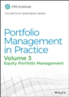 Portfolio Management in Practice, Volume 3 : Equity Portfolio Management - Book