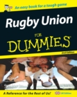 Rugby Union for Dummies - eBook