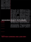 Measuring Quality in Planning : Managing the Performance Process - eBook