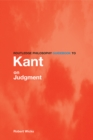 Routledge Philosophy GuideBook to Kant on Judgment - eBook
