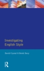 Investigating English Style - eBook
