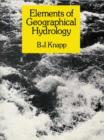 Elements of Geographical Hydrology - eBook