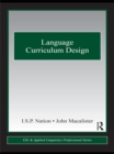 Language Curriculum Design - eBook