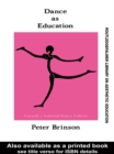 Dance As Education : Towards A National Dance Culture - eBook