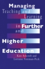 Managing Teaching and Learning in Further and Higher Education - eBook