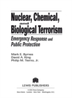 Nuclear, Chemical, and Biological Terrorism : Emergency Response and Public Protection - eBook