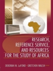 Research, Reference Service, and Resources for the Study of Africa - eBook