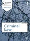 Criminal Lawcards 2012-2013 - eBook