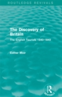 The Discovery of Britain (Routledge Revivals) : The English Tourists 1540-1840 - eBook