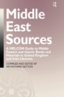 Middle East Sources : A MELCOM Guide to Middle Eastern and Islamic Books and Materials in the United Kingdom and Irish Libraries - eBook