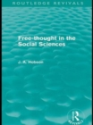 Free-Thought in the Social Sciences (Routledge Revivals) - eBook