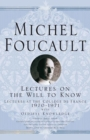 Lectures on the Will to Know - eBook