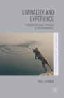 Liminality and Experience : A Transdisciplinary Approach to the Psychosocial - Book