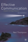 Effective Communication : A Guide for the People Professions - eBook
