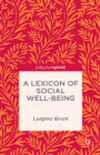 A Lexicon of Social Well-Being - eBook