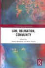 Law, Obligation, Community - Book