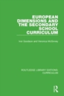 European Dimensions and the Secondary School Curriculum - Book