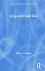 Linguistics and Law - Book