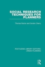 Social Research Techniques for Planners - Book